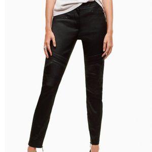 Aritzia Talula Moto Style Black Pants Jeans 8 M